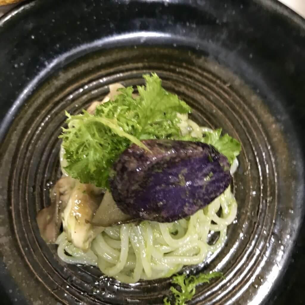 米の麺パスタ仕立て