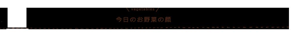 今日のお野菜の顔